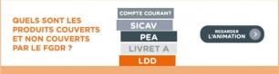 Liste des produits couverts et non couverts par le FGDR